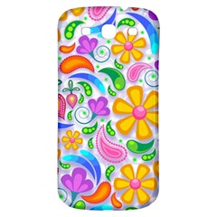 Floral Paisley Background Flower Samsung Galaxy S3 S III Classic Hardshell Back Case