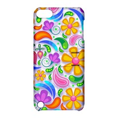 Floral Paisley Background Flower Apple iPod Touch 5 Hardshell Case with Stand
