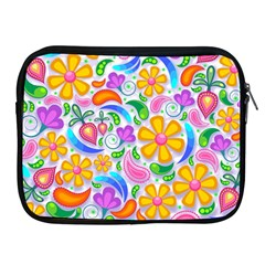 Floral Paisley Background Flower Apple iPad 2/3/4 Zipper Cases