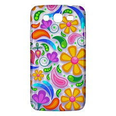 Floral Paisley Background Flower Samsung Galaxy Mega 5.8 I9152 Hardshell Case