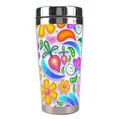 Floral Paisley Background Flower Stainless Steel Travel Tumblers