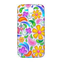 Floral Paisley Background Flower Samsung Galaxy S4 I9500/I9505  Hardshell Back Case
