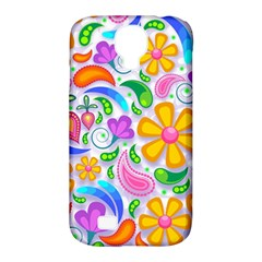 Floral Paisley Background Flower Samsung Galaxy S4 Classic Hardshell Case (PC+Silicone)