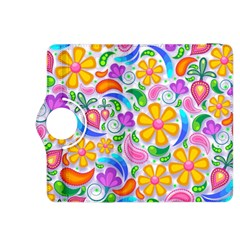 Floral Paisley Background Flower Kindle Fire HDX 8.9  Flip 360 Case