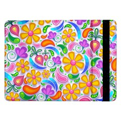 Floral Paisley Background Flower Samsung Galaxy Tab Pro 12.2  Flip Case