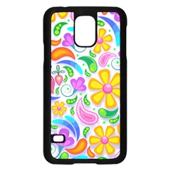 Floral Paisley Background Flower Samsung Galaxy S5 Case (Black)
