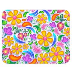 Floral Paisley Background Flower Double Sided Flano Blanket (Medium)