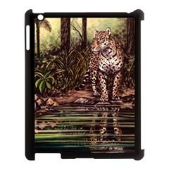 Jaguar in the Jungle Apple iPad 3/4 Case (Black)