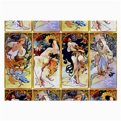 Alfons Mucha 1895 The Four Seasons Large Glasses Cloth (2-Side)