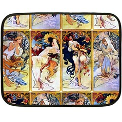 Alfons Mucha 1895 The Four Seasons Double Sided Fleece Blanket (Mini)