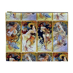 Alfons Mucha 1895 The Four Seasons Cosmetic Bag (XL)