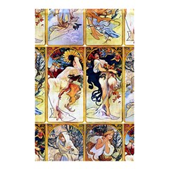Alfons Mucha 1895 The Four Seasons Shower Curtain 48  x 72  (Small)
