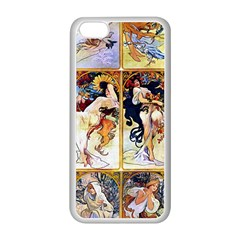 Alfons Mucha 1895 The Four Seasons Apple iPhone 5C Seamless Case (White)