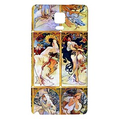Alfons Mucha 1895 The Four Seasons Galaxy Note 4 Back Case