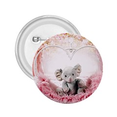 Elephant Heart Plush Vertical Toy 2.25  Buttons
