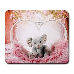 Elephant Heart Plush Vertical Toy Large Mousepads