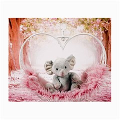 Elephant Heart Plush Vertical Toy Small Glasses Cloth
