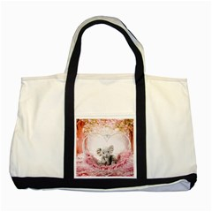 Elephant Heart Plush Vertical Toy Two Tone Tote Bag
