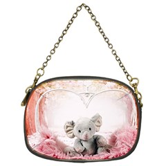 Elephant Heart Plush Vertical Toy Chain Purses (One Side)