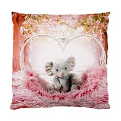Elephant Heart Plush Vertical Toy Standard Cushion Case (Two Sides)