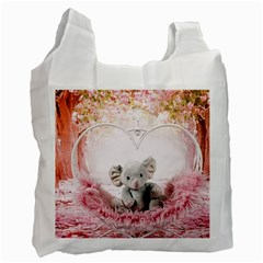 Elephant Heart Plush Vertical Toy Recycle Bag (One Side)