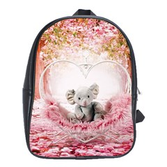 Elephant Heart Plush Vertical Toy School Bags(Large)