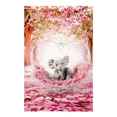 Elephant Heart Plush Vertical Toy Shower Curtain 48  x 72  (Small)