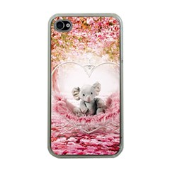 Elephant Heart Plush Vertical Toy Apple iPhone 4 Case (Clear)