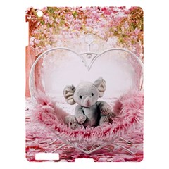 Elephant Heart Plush Vertical Toy Apple iPad 3/4 Hardshell Case