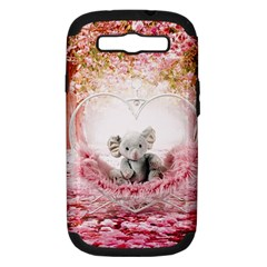 Elephant Heart Plush Vertical Toy Samsung Galaxy S III Hardshell Case (PC+Silicone)