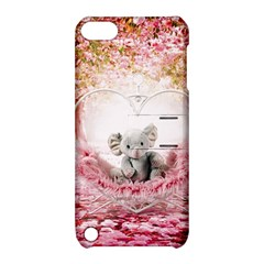 Elephant Heart Plush Vertical Toy Apple iPod Touch 5 Hardshell Case with Stand