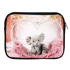 Elephant Heart Plush Vertical Toy Apple iPad 2/3/4 Zipper Cases