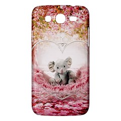 Elephant Heart Plush Vertical Toy Samsung Galaxy Mega 5.8 I9152 Hardshell Case