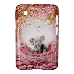 Elephant Heart Plush Vertical Toy Samsung Galaxy Tab 2 (7 ) P3100 Hardshell Case