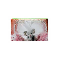 Elephant Heart Plush Vertical Toy Cosmetic Bag (XS)