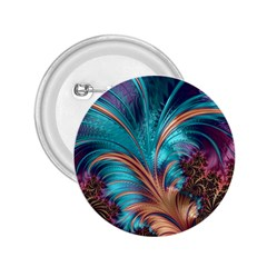 Feather Fractal Artistic Design 2.25  Buttons