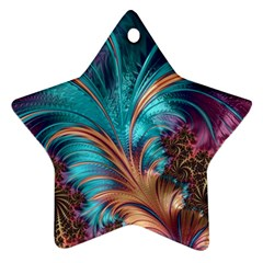 Feather Fractal Artistic Design Ornament (Star)