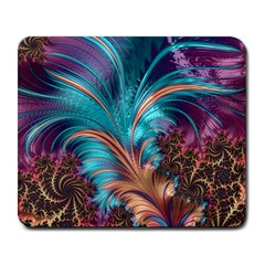 Feather Fractal Artistic Design Large Mousepads
