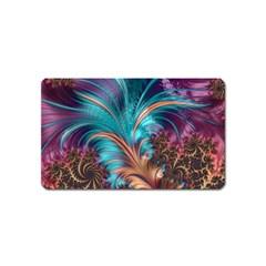 Feather Fractal Artistic Design Magnet (Name Card)