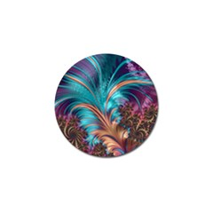Feather Fractal Artistic Design Golf Ball Marker