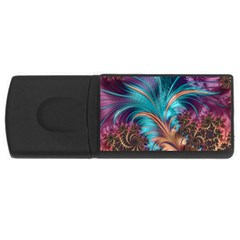 Feather Fractal Artistic Design USB Flash Drive Rectangular (1 GB)