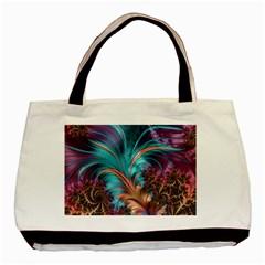 Feather Fractal Artistic Design Basic Tote Bag