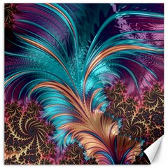 Feather Fractal Artistic Design Canvas 12  x 12