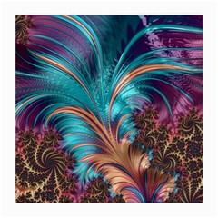 Feather Fractal Artistic Design Medium Glasses Cloth