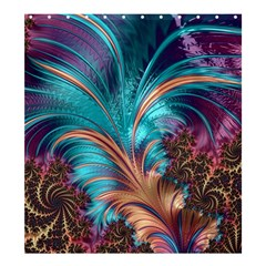 Feather Fractal Artistic Design Shower Curtain 66  x 72  (Large)