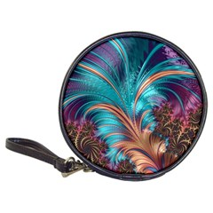 Feather Fractal Artistic Design Classic 20-CD Wallets