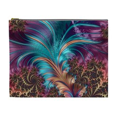 Feather Fractal Artistic Design Cosmetic Bag (XL)