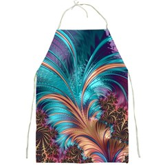 Feather Fractal Artistic Design Full Print Aprons