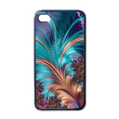 Feather Fractal Artistic Design Apple iPhone 4 Case (Black)