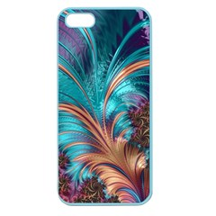 Feather Fractal Artistic Design Apple Seamless iPhone 5 Case (Color)